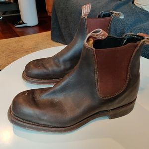 RM Williams mens Comfort 'Craftsman' boots size 7.5 H (width) - never worn
